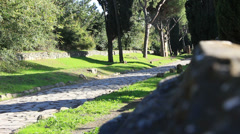 The Appian Way, Rome 17 Stock Footage