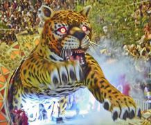 brazil carnival tiger - stock photo