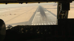 KC-135 Stratotanker landing view from cockpit Stock Footage