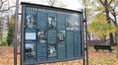 Alter Berliner Garnisonfriedhof 2 Stock Footage