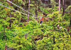 Ketchikan ziplining Stock Photos