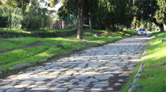 The Appian Way, Rome 23 Stock Footage