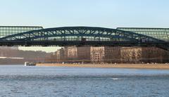 stock_Andrew pedestrian bridge in Moscow - stock photo