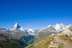 Matterhorn and Nadelhorn Stock Photos
