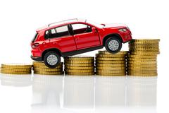costs of a car - stock photo
