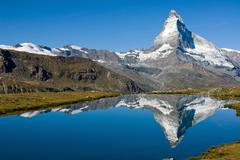 The Matterhorn with Stelisee - stock photo