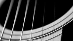 Black and White Guitar Zoom Stock Footage