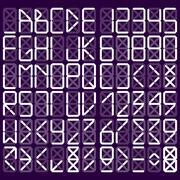 digital alphabet - stock illustration