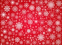 Vector frosty snowflakes background - stock illustration