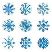 Vector frosty snowflakes - stock illustration