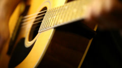 Acoustic Guitar Slow Motion Stock Footage