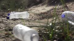 Plastic on the beach 2 Stock Footage