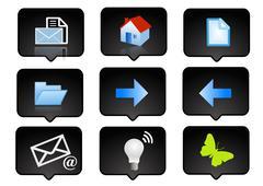 Computer icons set 3 Stock Illustration