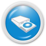 CD DVD Blueray Writer Icon Stock Illustration