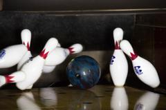 High Res - Bowling Strike ! Stock Photos