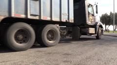 Cowboy truck stop big rig Stock Footage