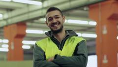15of19 People working in warehouse, workers in industry - stock footage