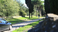 The Appian Way, Rome 19 Stock Footage