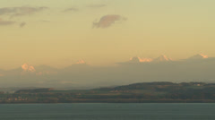 SWITZERLAND Alpes moutains and Neuchâtel lake Stock Footage