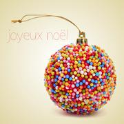 Joyeux noel, merry christmas in french Stock Photos