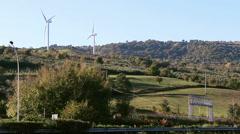 Wind energy turbine Stock Footage
