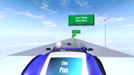 Stock Video Footage of 8 Steps to a Plan (Driving Animation)