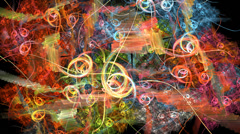 Abstract multicolored texture pattern motion background seamless looping fractal Stock Footage
