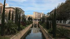Street near to Es Baluard Museu d´Art Modern i Contemporani de Palma, Spain Stock Footage