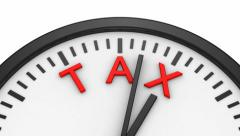 Tax Time - stock footage