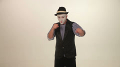 Man mime fights Stock Footage