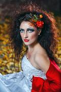 bride in wedding dress - stock photo