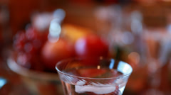 a table set for a thanksgiving dinner - stock footage