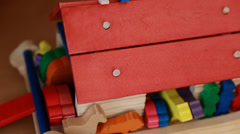 A wooden toy ark Stock Footage