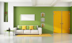 Bright modern living room Stock Illustration