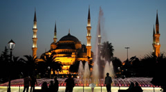 Sultan Ahmet Camii (Blue Mosque). Istanbul, Turkey Stock Footage