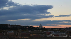St Peters Dome in distance, at Sunset - stock footage
