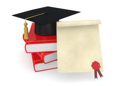 concept of graduation - stock illustration