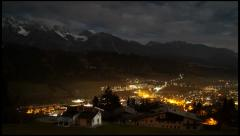 Austria - Night Time Lapse - HD Stock Footage