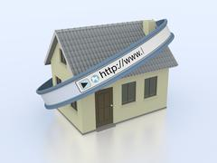 Stock Illustration of online real estate