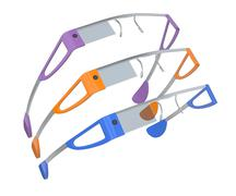 Smart glasses Stock Illustration