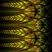 abstraction of fractal spike, digital artwork for creative - stock illustration