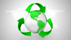 Recycling Symbol Stock Footage