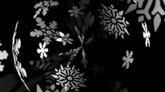 Snowflakes Motion Mapping Stock Footage