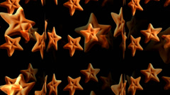 Star Shaped Cookies Motion Mapping Stock Footage