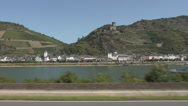 Stock Video Footage of kaub am rhein mit burg gutenfels