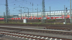 train drived out of railwaystation - stock footage