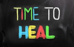 time to heal concept - stock illustration