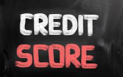 credit score concept - stock illustration