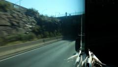 Driving Into New York City by Bus Stock Video Stock Footage