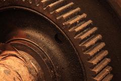 Rusty cogwheel Stock Photos